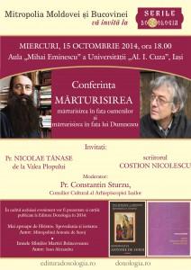 Parintele Nicolae Tanase de la Valea Plopului si scriitorul Costion Nicolescu vin la Serile DOXOLOGIA
