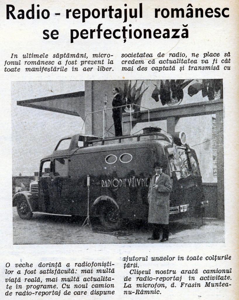 1938 Radio-reportajul romanesc se perfectioneaza