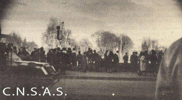 Fotografie realizata pe furis in ziua revoltei si publicata ulterior in presa internationala