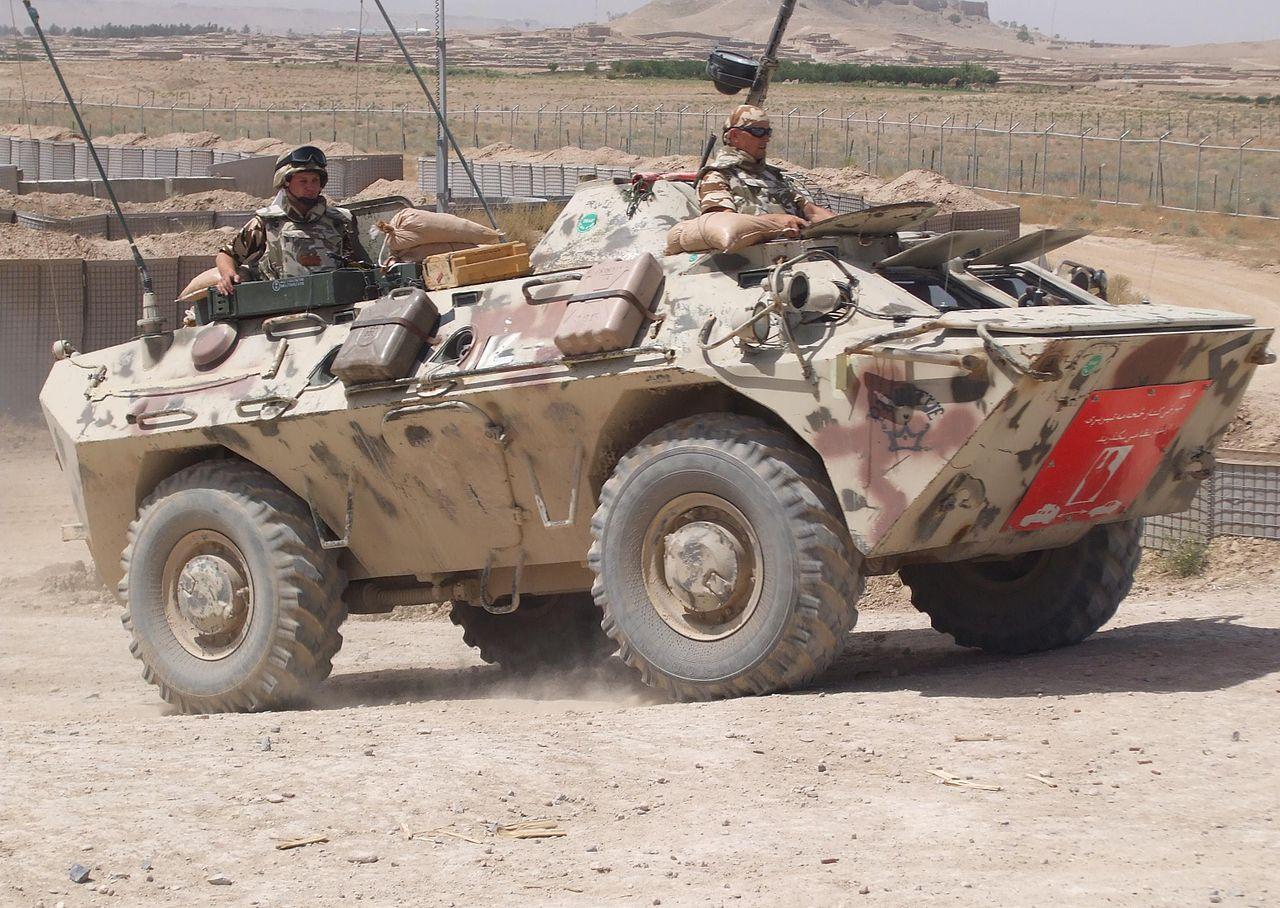"""Autoblindat TABC-79 al Batalionului 33 Vânători de Munte """"Posada"""" în Afghanistan"""