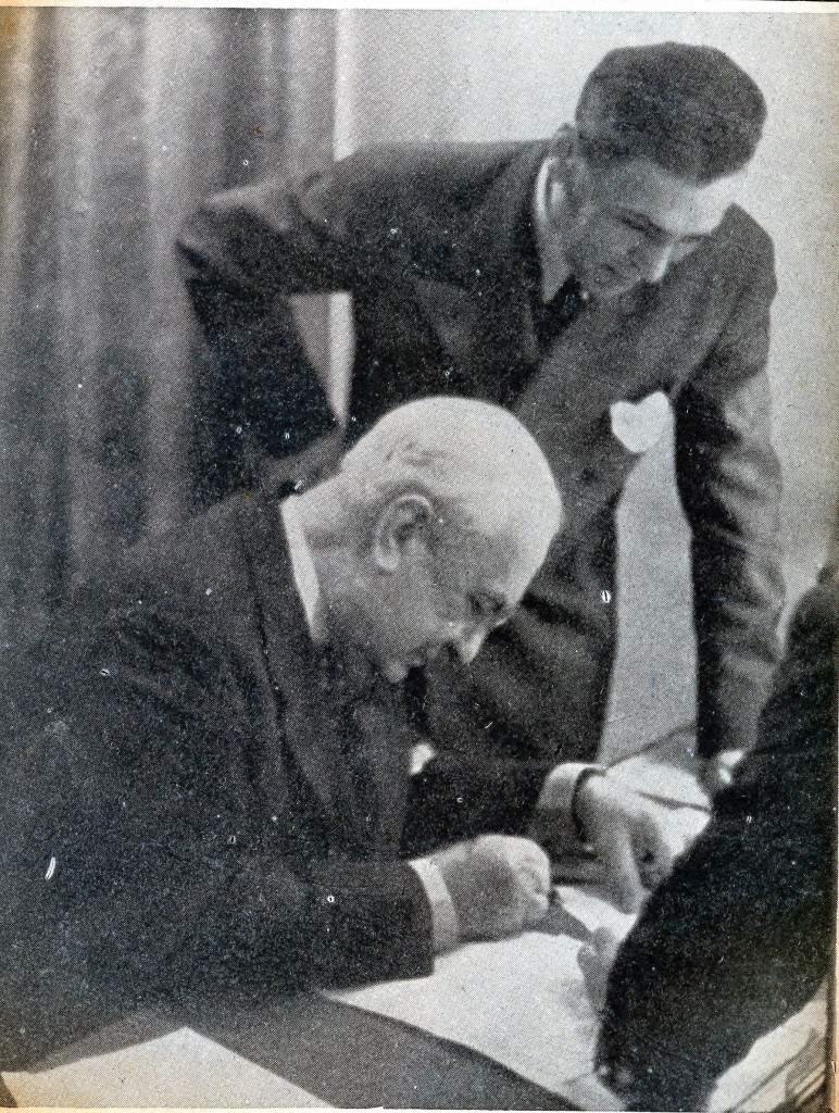 Constantin Argetoianu ṣi Dan Sărăṭeanu, preṣedintele SRR