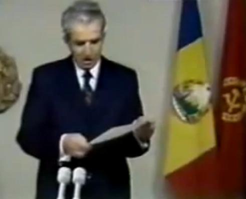 Ceausescu, cuvantarea televizata.