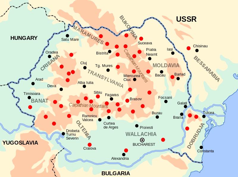 Harta centrelor de rezistenṭă anticomunistă; sursa: http://ro.wikipedia.org/