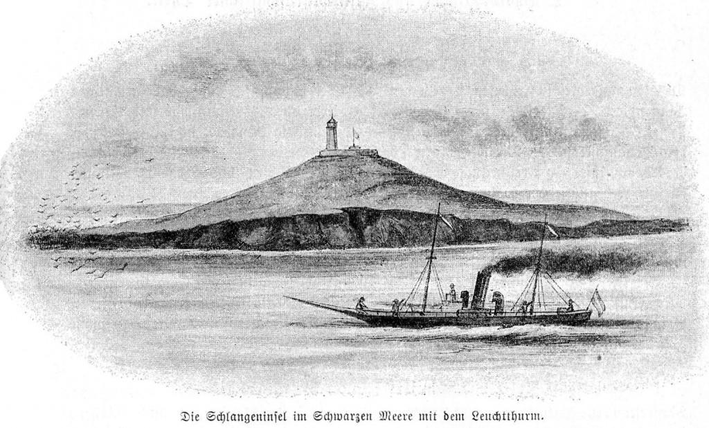 Insula Serpilor in 1896