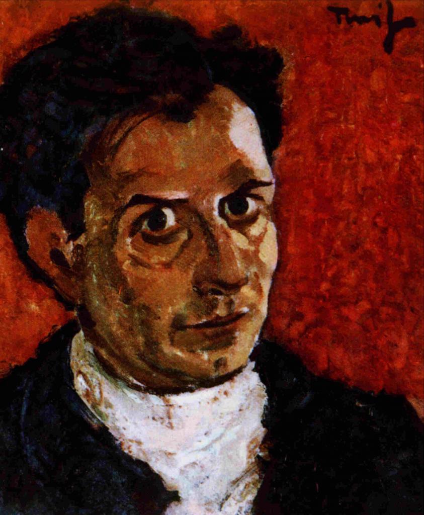 Nicolae Tonitza, autoportret cca 1923
