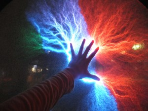 7. multicolored thunderstorm