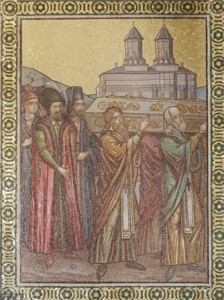 Mozaic cu aducerea moaştelor Sf. Parascheva