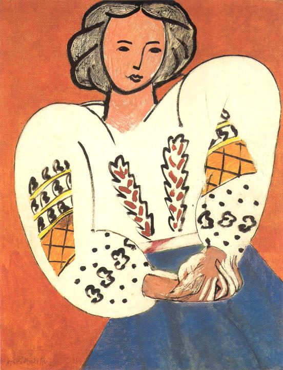 La Blouse Roumaine Henri Matisse 1940