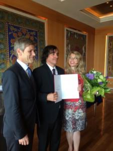 Josef Ostermayer, Mircea Cartarescu si Ioana Nicolaie