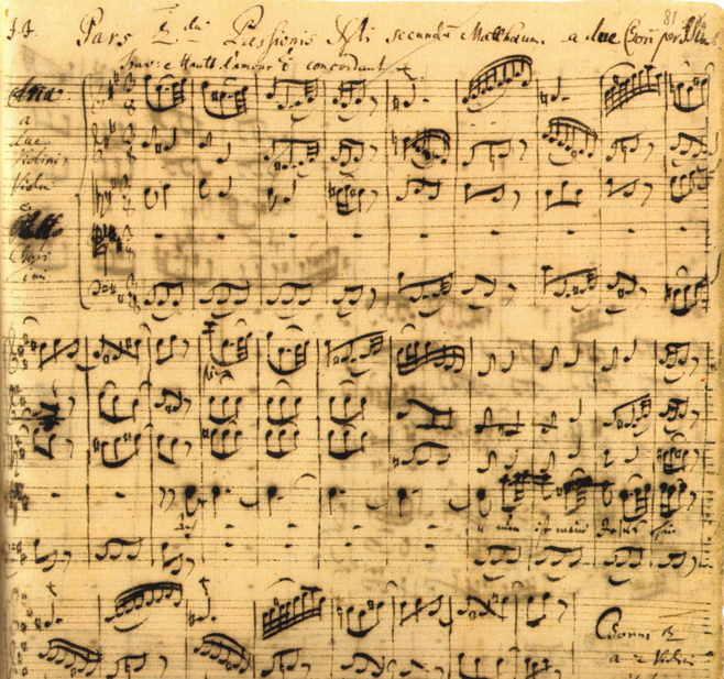 Bach - Patimile după Matei - facsimil