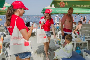 02. Politia Gaudeamus pe plaja din ''Mamaia'' - Foto. Alexandru Dolea