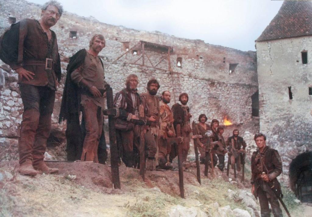 Actorii din filmul Nemuritorii, la Râşnov - 1974