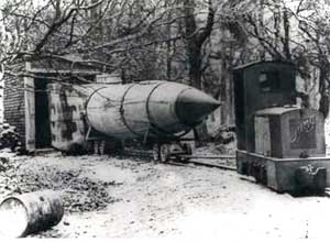 Rachetele V-2 (A-4) erau transportate cu trenul în locaţii speciale, imediat ce erau asamblate. Credit foto: zum.de