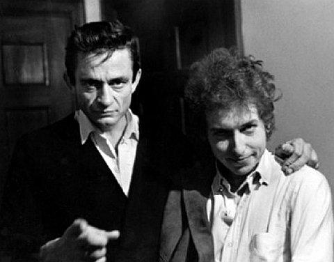 Johnny Cash şi Bob Dylan