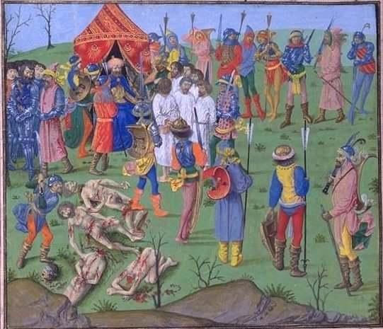 Executarea prizonierilor cruciaţi ca răzbunare pentru uciderea prizonierilor turci de la Rahova