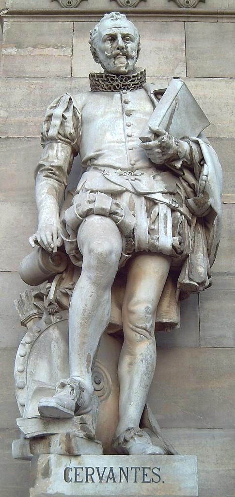 Statuia lui Cervantes - Biblioteca Naţională a Spaniei, Madrid