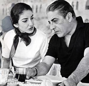 Maria Callas şi Aristotel Onassis