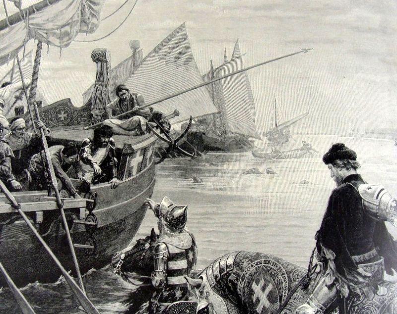 Fuga regelui Sigismund cu o corabie veneţiană