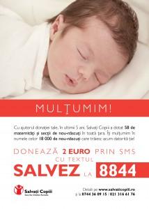 Campanie Salvati Copiii - Un gest pentru o viata - Multumim