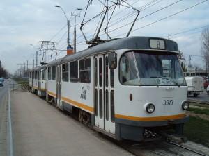 Tramvai Tatra T4, din perioada comunistă