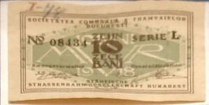Bilet de tramvai din 1918