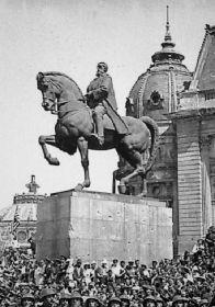 statuia regelui Carol interbelic