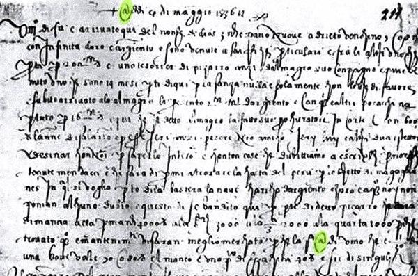 Scrisoarea florentină - 1536