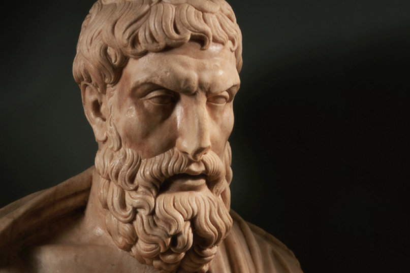 Epicur a fost influenţat de filosofia hedonistă