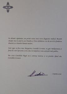 Mesaj Regele Mihai I 1martie2016