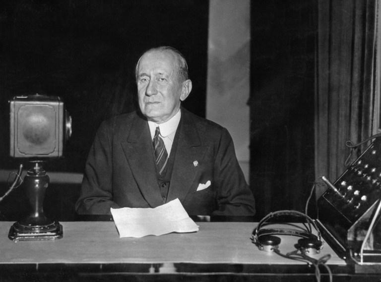 Guglielmo Marconi, fotografie din 1937 / AFP PHOTO / ARCHIVES / ARCHIVES