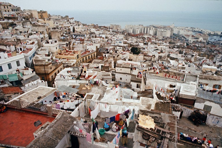 Casbah d'Alger 1974. / AFP PHOTO / JEAN-PIERRE PREVEL/