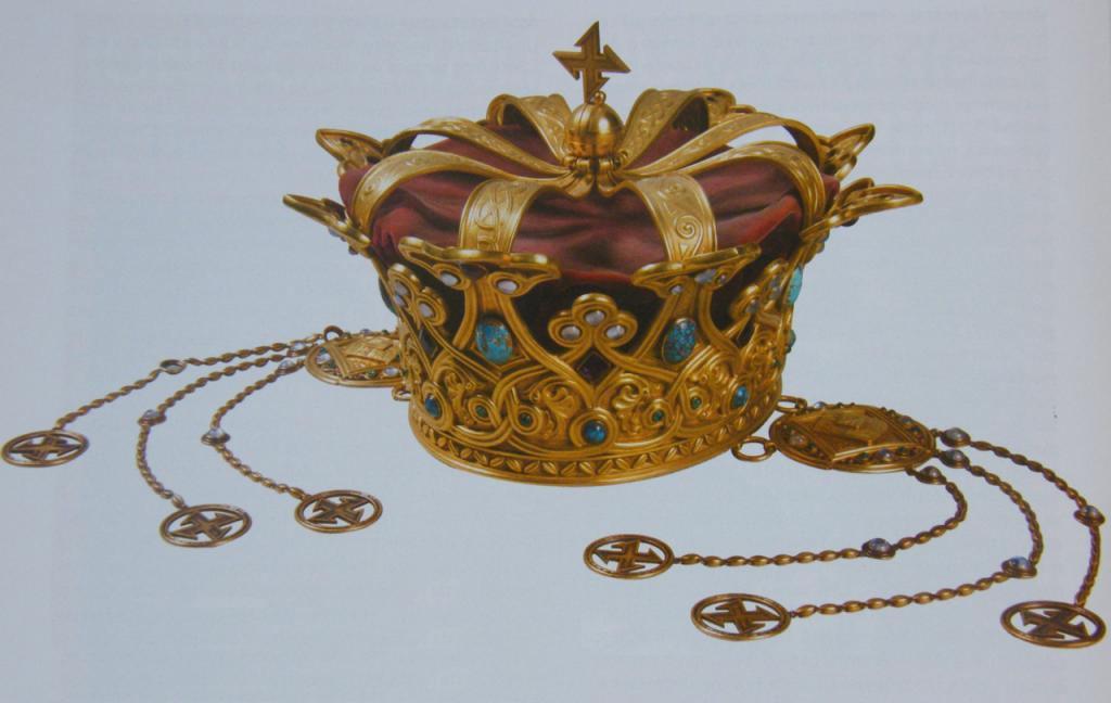 Coroana reginei Maria a României, folosită la încoronarea de la Alba Iulia din 15 octombrie 1922