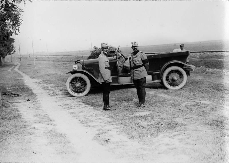 Generalul Averescu şi regele Ferdinand, probabil 1917
