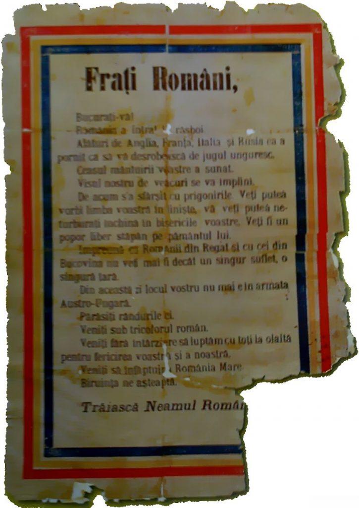 Manifest românesc aruncat în Transilvania; https://upload.wikimedia.org/