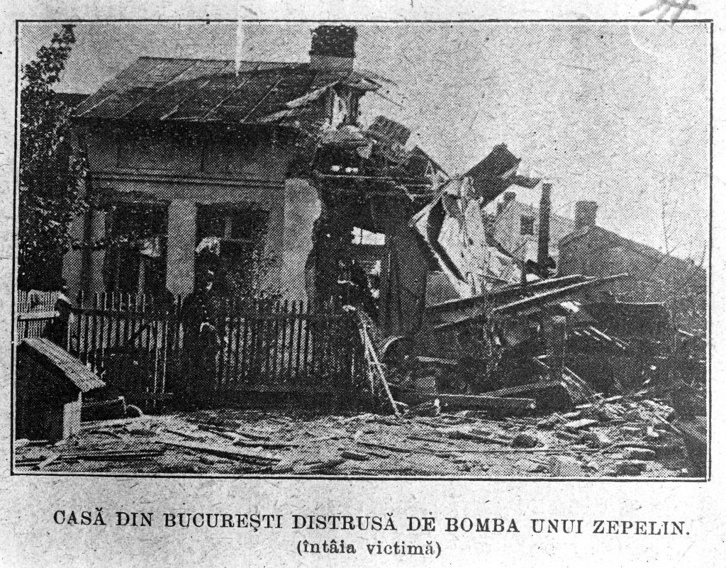casa din bucuresti distrusa de zepelin