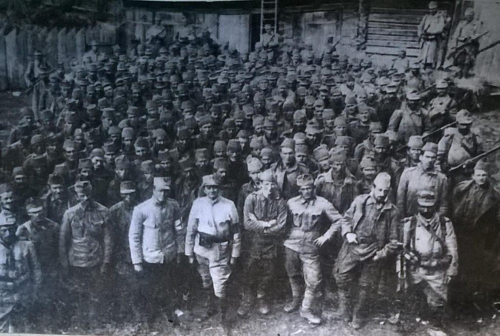 Prizonieri austro-ungari capturaṭi pe frontul din Transilvania - Fototeca Muzeului Militar Naṭional