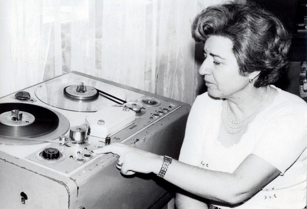 Sofia Şincan – redactor şef al Programului 3 - 1985