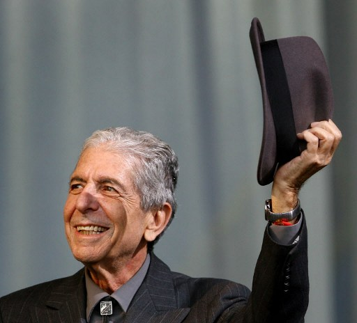 Leonard Cohen / AFP PHOTO / BEN STANSALL
