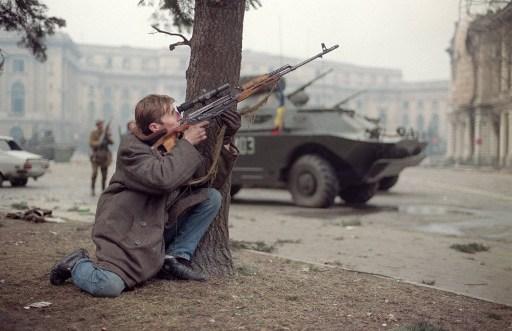 24 decembrie 1989 / AFP PHOTO / JOEL ROBINE
