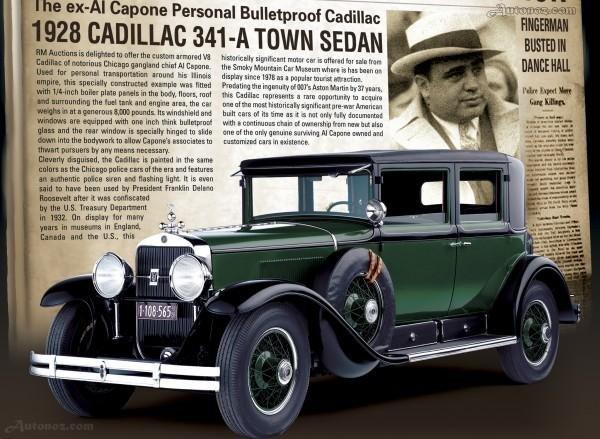Cadillac-ul blidat ce a apartinut lui Al Capone