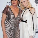 Caitlyn Jenner and Andreja Pejic attend the 2017 Elton John AIDS Foundation Academy Awards Viewing Party in  West Hollywood, California, on February 26, 2017. / AFP PHOTO / TIBRINA HOBSON