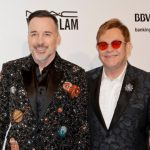David Furnish  and Elton John attend the 2017 Elton John AIDS Foundation Academy Awards Viewing Party in  West Hollywood, California, on February 26, 2017. / AFP PHOTO / TIBRINA HOBSON