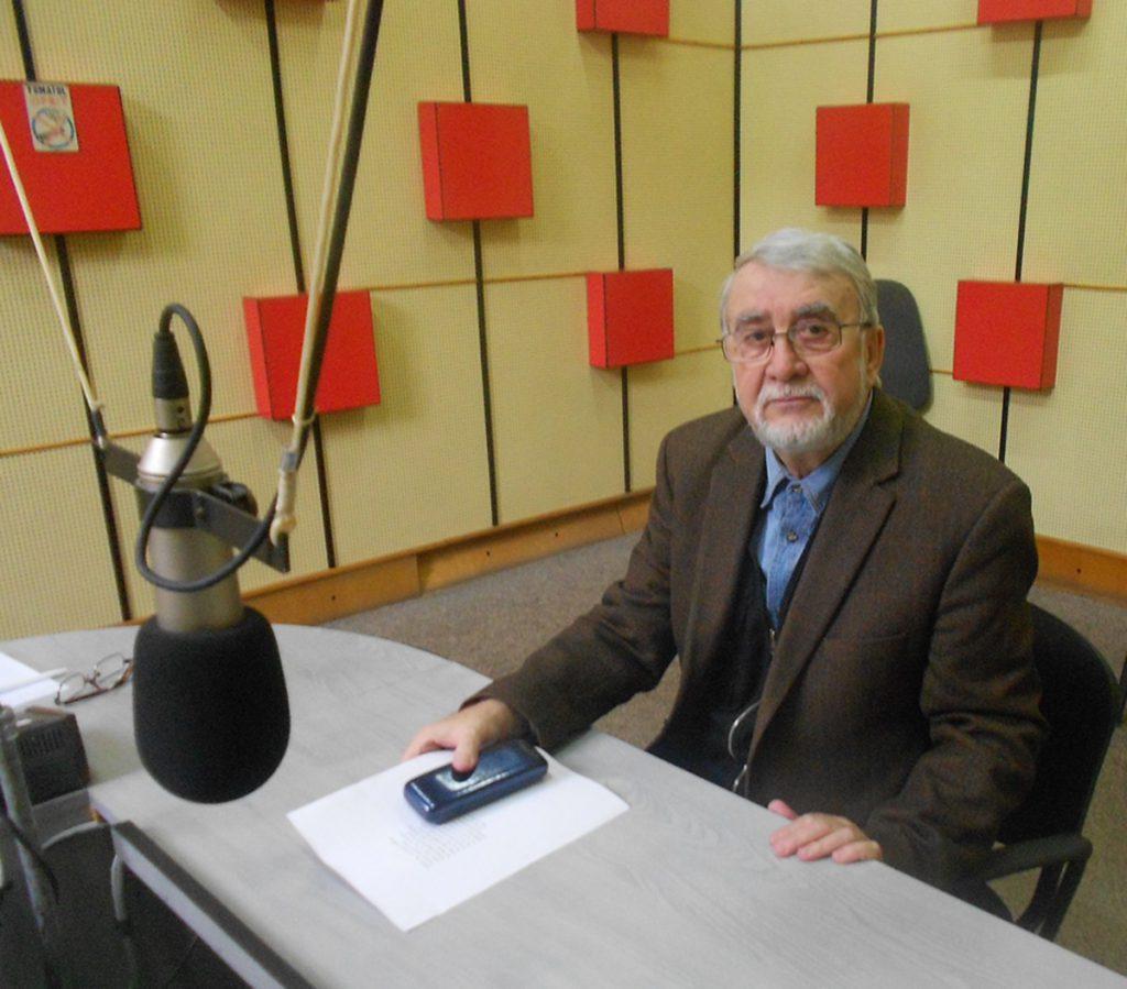 Horia Bădescu în studioul Radio Cluj – 16 noiembrie 2015