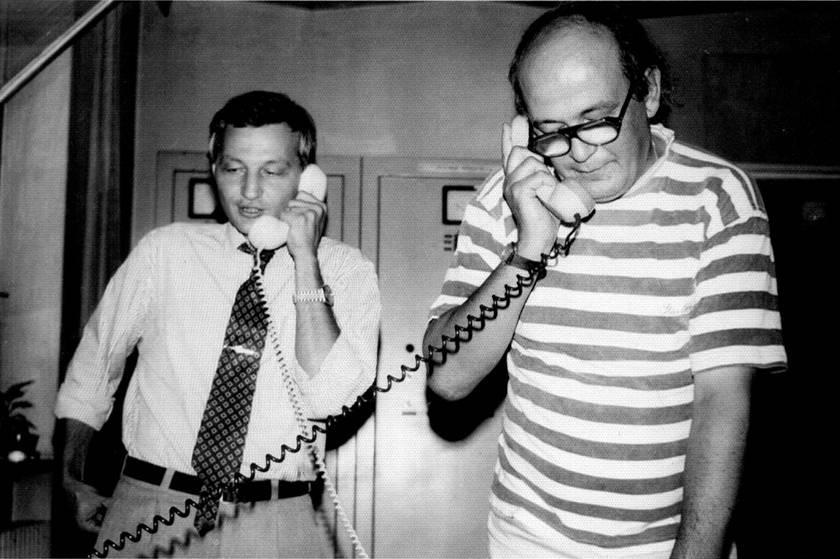 Mihai Junea (Radio Timişoara) cu Paul Grigoriu la Radio Cluj - 8 iulie 1993