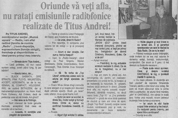 Revista Panoramic TV 16-22 mai 1994