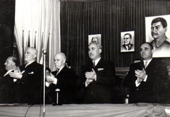 Festivitate la Ateneul Român, la cinci ani de la eliberarea Ungariei de armata sovietică; Fototeca online a comunismului românesc, cota 34/1950