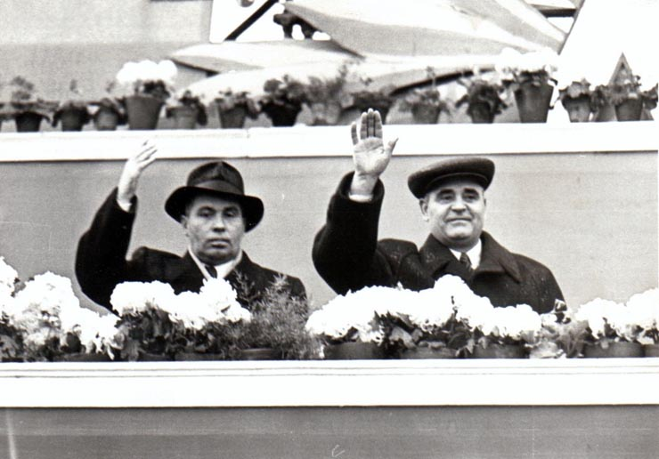Gheorghiu Dej şi Melnicov, ambasadorul Uniunii Sovietice la Bucureşti; Fototeca online a comunismului românesc, cota 78 (74)/1953