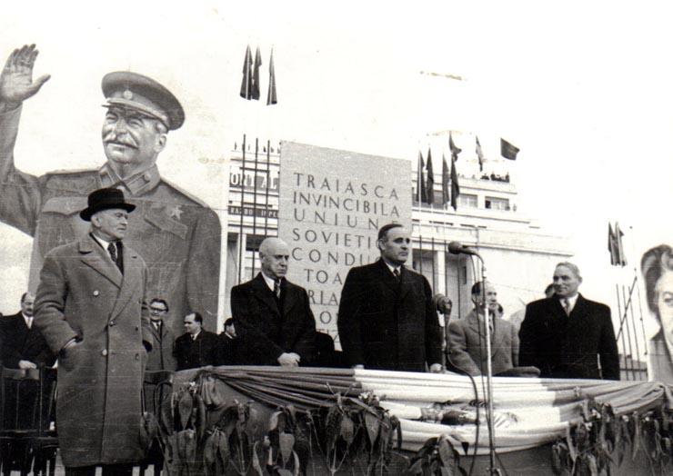 Miting în Piaţa Victoriei;  Fototeca online a comunismului românesc, Fotografia #GA028, 8 martie 1950, cota 28(17)/1950, ANR