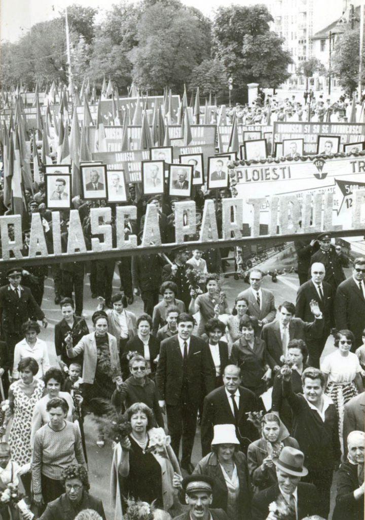Demonstraţie la aniversarea zilei de 23 aug 1944 Fototeca online a comunismului românesc, cota 181/1968