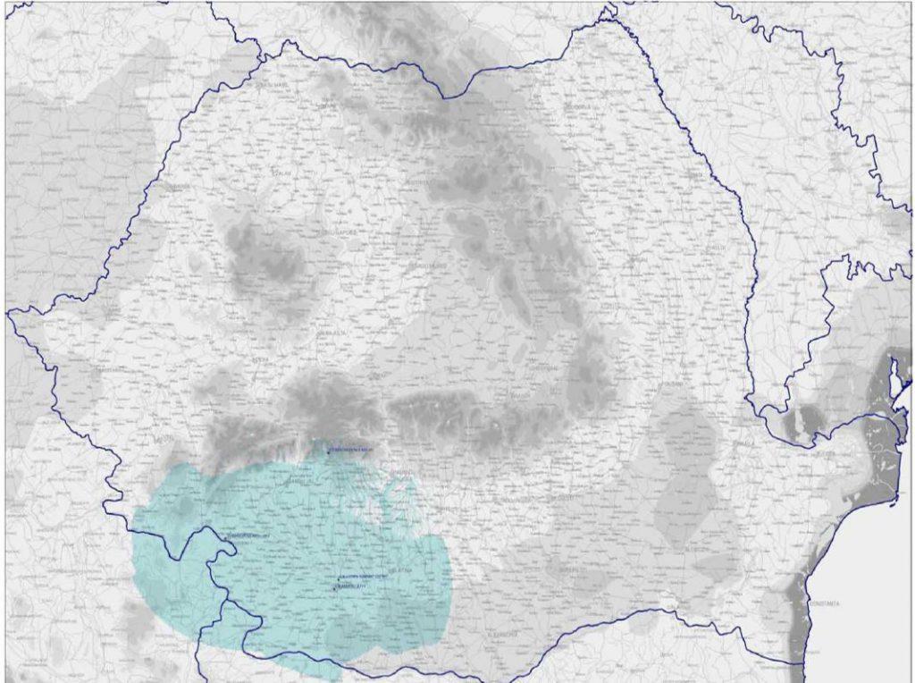 Acoperirea teritorială a Radio Craiova - 2003